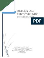 SOLUCION CASO PRACTICO UNIDAD 1 COMUNICACION ORAL Y ESCRITA