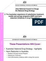 Australia Experience of HR in Drug Free Settings