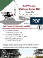 WCAS Fall Warbler Series 2020 Wrap-Up November 14, 2020
