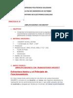 PRACTICA#10 AMPLIFICACION MOSFET