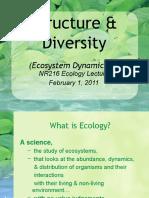 2011 Lecture 4a Ecosystem Dynamics I