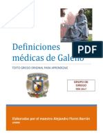 DEFINICIONES MÉDICAS GRIEGO 2017