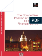 The Competitive Position of London as a Global Financial Centre