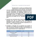 Exercícios - avaliação de desempenho