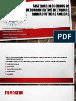 SISTEMAS MODERNOS DE RECUBRIMIENTOS DE FORMAS FARMACEUTICAS SOLIDAS