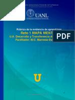 Rúbrica Evidencia RETO 1 MAPA MENTAL  UA Desarrollo y Transferencia de Tecnología.