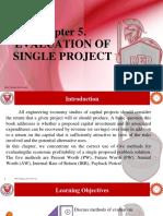 Module 5- EVALUATION OF SINGLE PROJECT