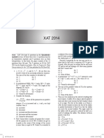 XAT - 2014 - Solved Paper
