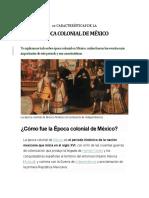 ÉPOCA COLONIAL DE MÉXICO