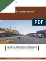 Budget Brief 2020 Final - Somaliland
