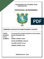 PRIMEROS AUXILIOS EN CONTUSIONES O GOLPES