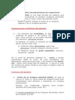 Tema 10 El Adverbio, Conjunciones Preposiciones