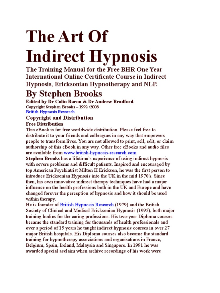 The Art of Indirect Hypnosis | Hypnosis | Hypnotherapy