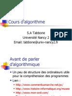 Cours Algo1