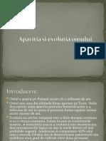 Aparitia si evolutia omului1