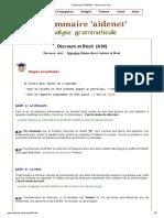 Grammaire AIDENET _ Discours et récit