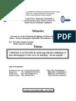 Validation d'un Procédé de nettoyage physico-chimique et microbiologique d'une cuve de mélange ' forme liquide.pdf