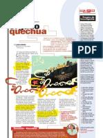 Orgullo quechua (Suplemento Q), PuntoEdu. 13/11/2006