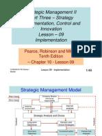 Strategic Management II - Lesson 09 - updated 29.06