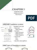 Building contruction- Chapter3