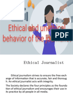 ethical and unethical behavior of the journalist by Christopher Paera & Glenda