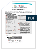 11 Recuperacion Matematicas 2020 A