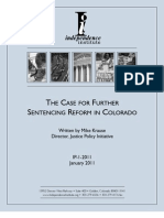 The Case for Further Sentencing Reform in Colorado