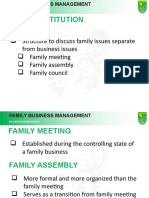 setting up a family structure