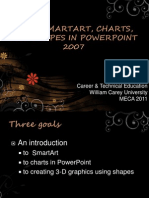 Using SmartArt, Charts, and Shapes in PowerPoint 2007-MECA 2011
