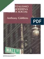 Giddens - El capitalismo y la moderna teoría social