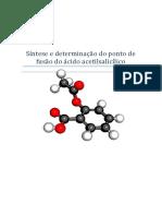Síntese e determinação do ponto de fusão do ácido acetilsalicílico