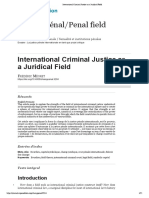 International Criminal Justice as a Juridical Field