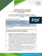 Guia de actividades y Rubrica de evaluacion - Unidad 2 - Tarea 4- Elaborar una propuesta (1)