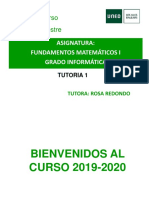 FUNDAMENTOS MATEMATICOS I TUTORIA 1 19 20