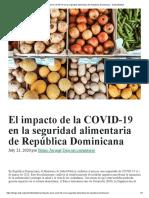 El impacto de la COVID-19 en la seguridad alimentaria de República Dominicana - Sostenibilidad