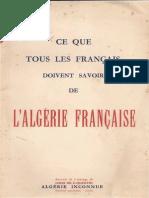 Ce que tous les français devraient savoir sur l'Algérie française