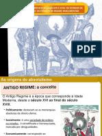 1.1 e 1.2. Estados Parlamentares e SOCIEDADE DE ANTIGO REGIME.pptx