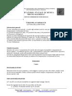 Programma Lettura partitura conservatorio