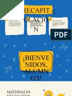 Crema y Amarillo Dibujo a Mano Clase de Inglés Educación Presentación