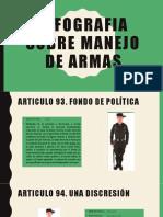 INFOGRAFIA SOBRE MANEJO DE ARMAS
