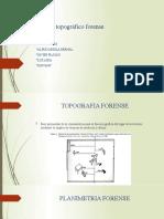 Plano topográfico forense