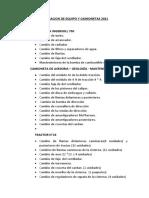 REPARACION DE EQUIPO Y CAMIONETAS 2021