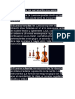 Clasificación de los instrumentos de cuerda
