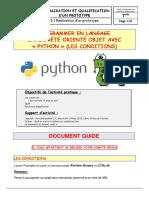 Programmer avec python-les conditions