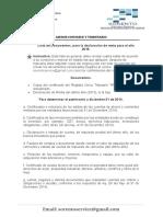 lista de documentos -declaración de renta -2015