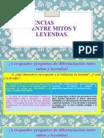 PPT DIFERENCIAS ENTRE MITOS Y LEYENDAS..pptx