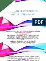 Programa de Documentos Vitales o Esenciales