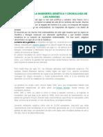 EVOLUCIÓN DE LA INGENIERÍA GENÉTICA Y CRONOLOGÍA DE LOS AVANCES.