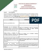 Formato Autoevaluacion Primer Corte Epistemologia II