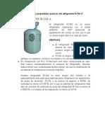 cuales son las propiedades químicas del refrigerante R